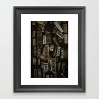 Kyoto Name Stickers 1 Framed Art Print