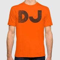 DJ Mens Fitted Tee Orange SMALL