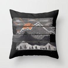 Into the Grey... Throw Pillow