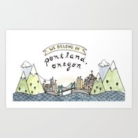 We Belong In Portland Art Print