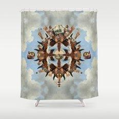Temple II Shower Curtain