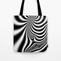 Black and White Fractal 7 Tote Bag