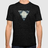 A Journey Under A Starry Night Sky Mens Fitted Tee Tri-Black SMALL