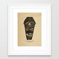 Lyrics & Type Framed Art Print