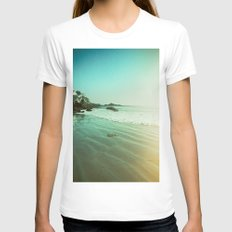 CDM Waves. Womens Fitted Tee White SMALL