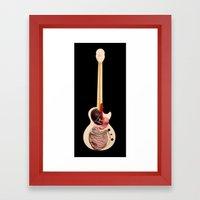 Digestive Guitar Framed Art Print