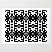 Black and White Tile 5/4/2013 Art Print