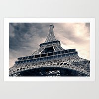 Towering Eiffel Tower Art Print