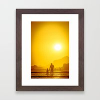 The first time he saw the ocean Framed Art Print