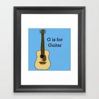 G Is For Guitar Framed Art Print