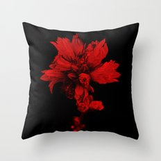 Flower in Black&Red Throw Pillow