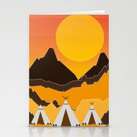 Teepees Mountains Stationery Cards