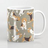 Beagle Scatter Stone Mug