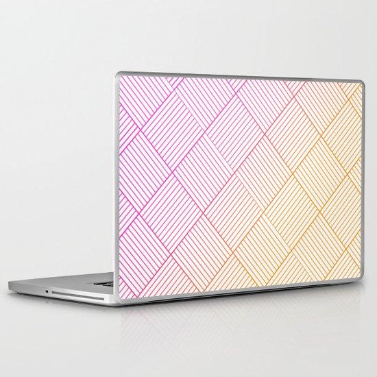 Woven Diamonds in Pink and Orange Laptop & iPad Skin