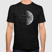 To The Moon And Back Mens Fitted Tee Tri-Black SMALL