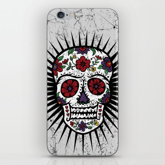Sugar Skull Star iPhone & iPod Skin