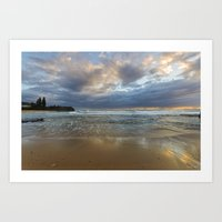 Reflections on the shore  Art Print