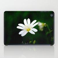 White Flower iPad Case