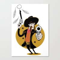 Dumb Cowboy Canvas Print