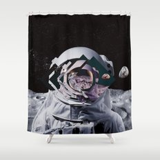 Spaceman Oh Spaceman, Co… Shower Curtain
