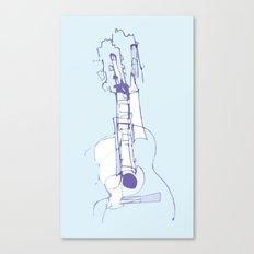 Cool Guitar Canvas Print