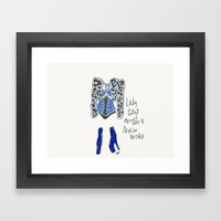 fashion Dress Illustration Framed Art Print