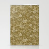 Gold Roses Stationery Cards