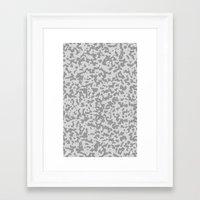 Comp Camouflage / Grey Framed Art Print