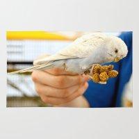 Blue Parakeet Rug