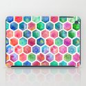 Hand Painted Watercolor Honeycomb Pattern iPad Case