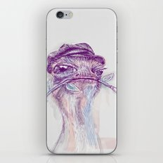 Ostrich Painter iPhone & iPod Skin