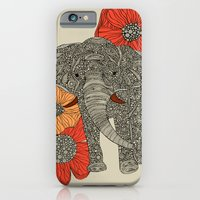 iPhone Cases featuring The Elephant by Valentina Harper