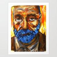 L'incendie du Roi Gris Art Print