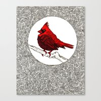 A Red Cardinal Canvas Print