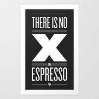 No X in Espresso – Dark Grey Art Print
