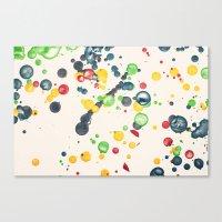 Crayon Love: Splatter Th… Canvas Print