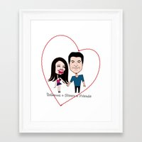 Rebecca Black and Simon Cowell are Friends Framed Art Print