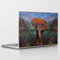 elephant Laptop & iPad Skins featuring Elephant by Waelad Akadan
