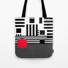 stripes mesh Tote Bag