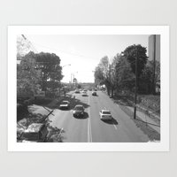 KNOXVILLE STRIP Art Print