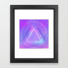 Galaxy triangle Framed Art Print
