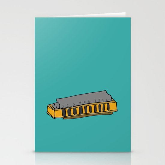 Harmonica Stationery Card