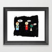 Zombie Girlfriend Framed Art Print
