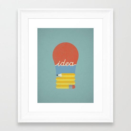 I've Got An Idea Framed Art Print