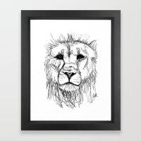 Gesture Lion Framed Art Print