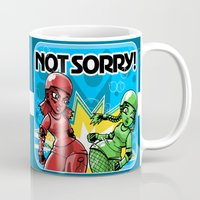 Not Sorry Roller Derby Art by RonkyTonk Mug