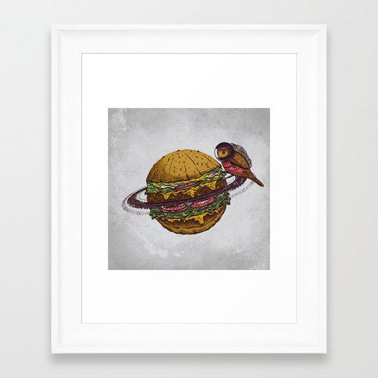 planet food Framed Art Print