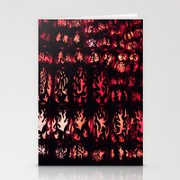 Wall Of Flame Stationery Cards