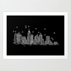 Atlanta, Georgia City Skyline  Art Print