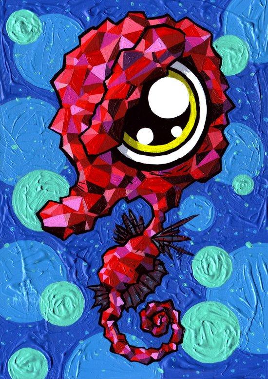 Harlequin Seahorse  Canvas Print